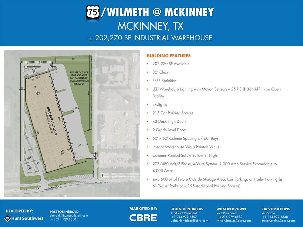 75/Wilmeth @ McKinney - McKinney, TX - 202,270 Square Feet for lease